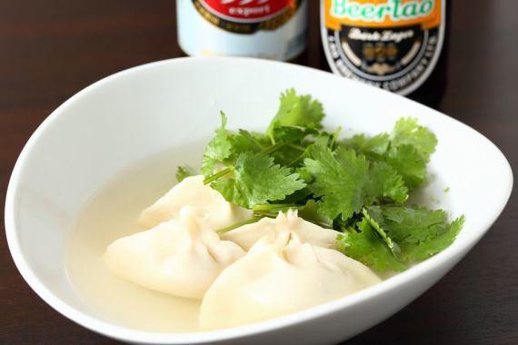 Water-dumpling parchi soup