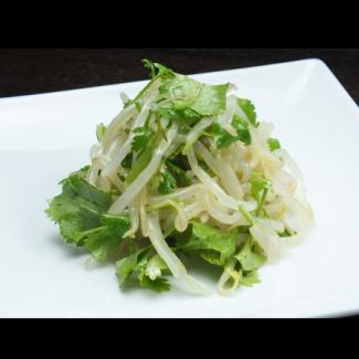 Coriander and bean sprouts namul of