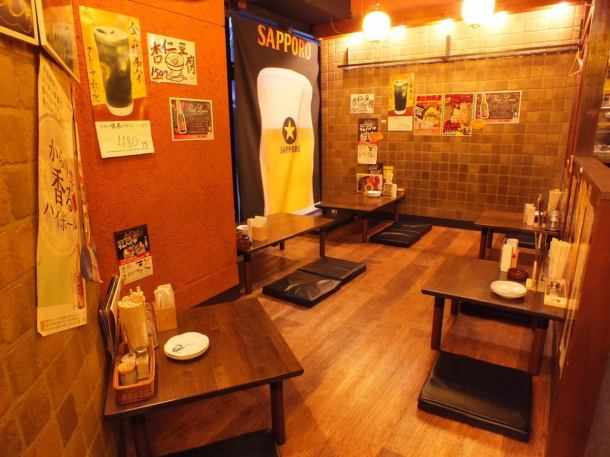 We also have spacious seats for the seat !! You can use it in various scenes from family meals with friends to corporate forgetting and New Year's party.Enjoy drinking with ramen, skewer and horse meat!