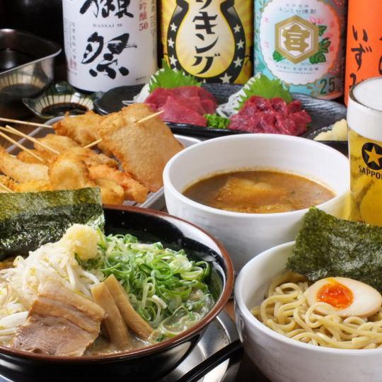 【包括全友暢飲】Ichifuji 2500日元(不含稅)餃子/串燒/拉麵等«所有7項»年終派對/宴會等!