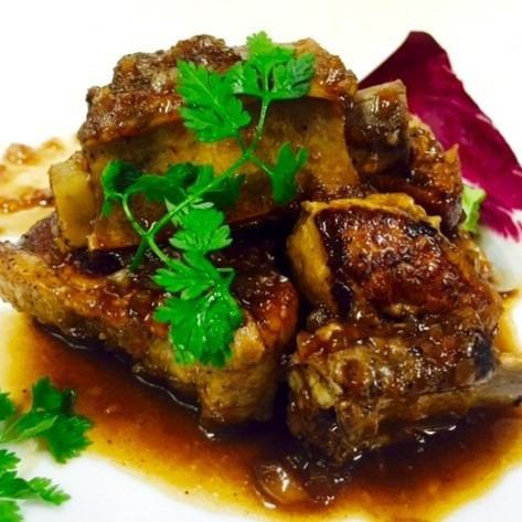 Braised Domestic Pork Sparerib ~ Balsamic Sauce ~