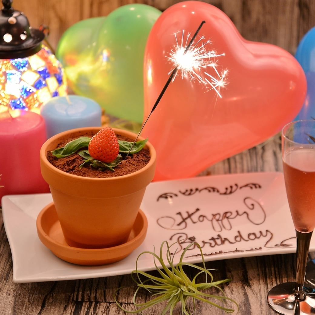 ★ Birthday · anniversary ★ Special Flower Pot gifts for free!