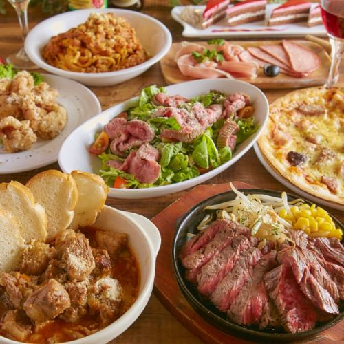 * Year End Party course * 2.5 hours full of cooking for meat fare with drinks allotted 8 items 4500 yen ⇒ 3500 yen