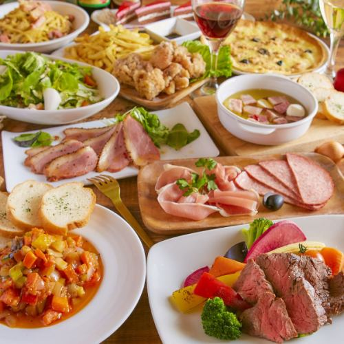 * Nuku & Vegy Coece * 3 hours Having drinks with meat fans can also enjoy both vegetable fare ♪ 10 items 5500 yen ⇒ 4500 yen