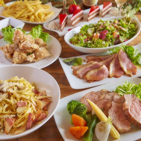 «Lunch» * Casual Course * Maximum 3 hours with unlimited drinks · 7 royal road items 3000 yen ⇒ 2500 yen