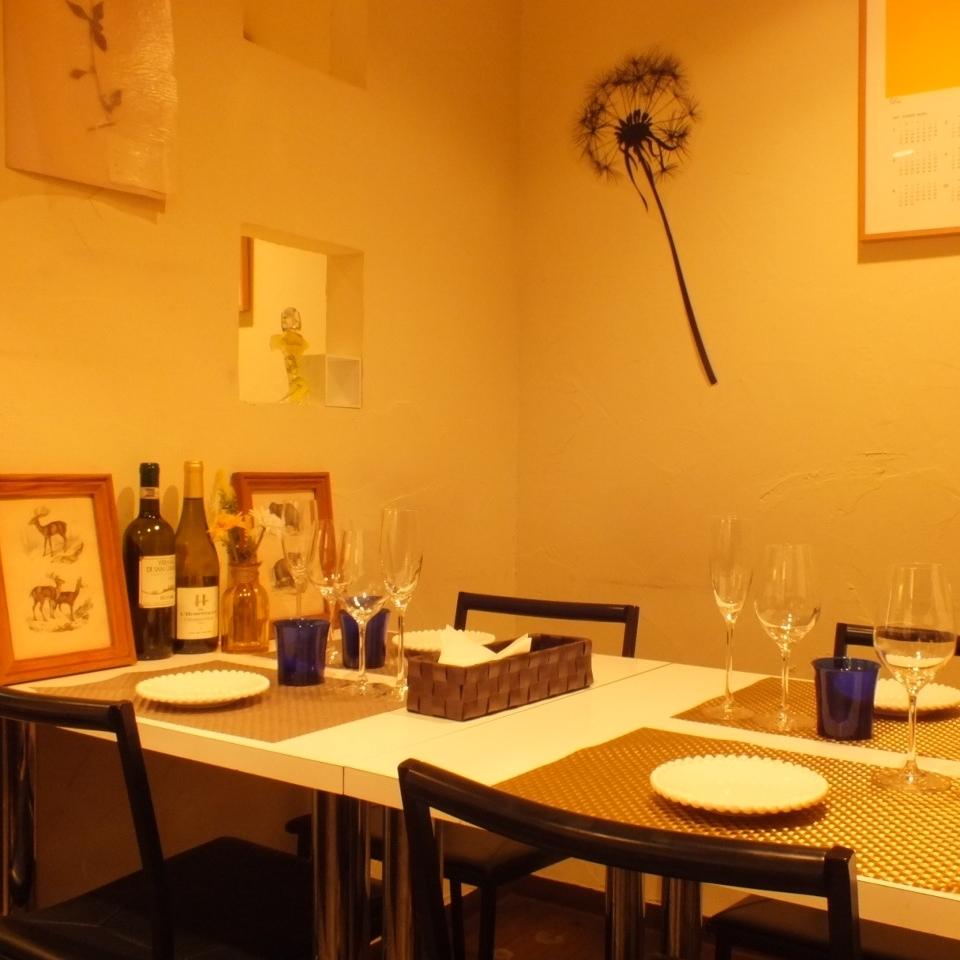 小物一つ一つにもこだわり有り♪おしゃれな空間で美味しい料理を。