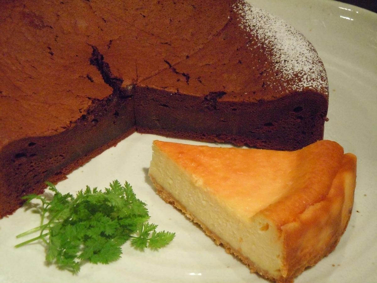 ガトーショコラ/ベイクドチーズケーキ