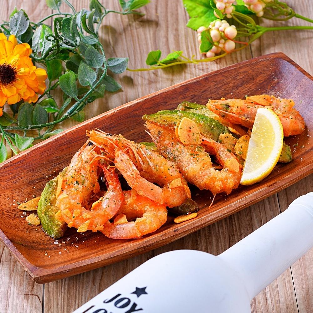Avocado garlic shrimp