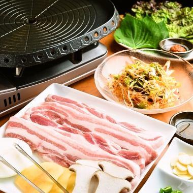 [Gattsuri系统]五花肉120分钟所有你可以吃当然★2480日元(不含税)或烤肉所有你可以吃当然★2780日元(不含税)