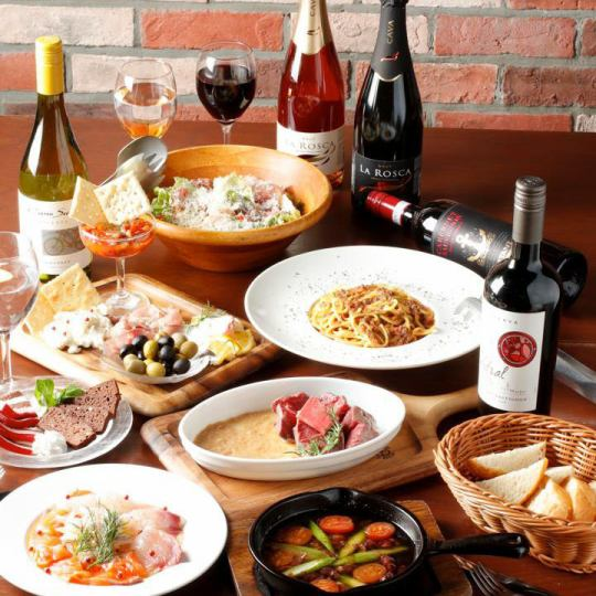 Secretary privilege availability ★ Fried steak and other meat dish course ★ 14 items ★ 3h red white bubble 100 kinds of wine buffet & other drinks