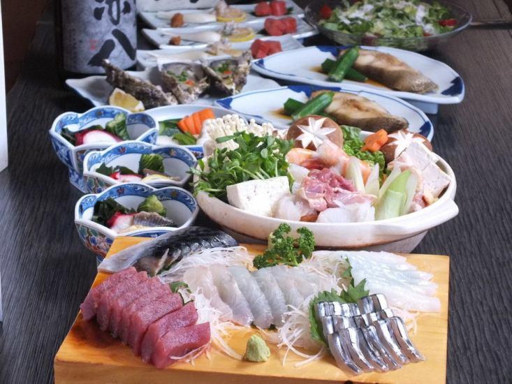 很多美食的寶石!鮮魚和當地的雞肉美味的商店
