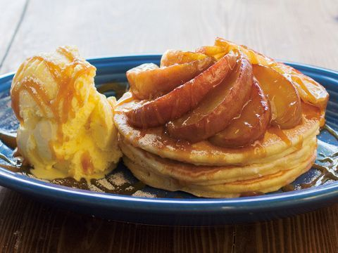 美国煎饼(苹果/冰/焦糖酱)