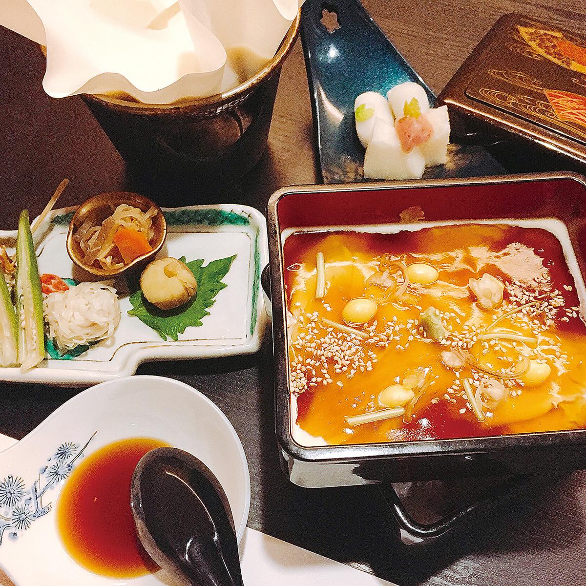 Nanakori Yuba Ogre serving box lunch