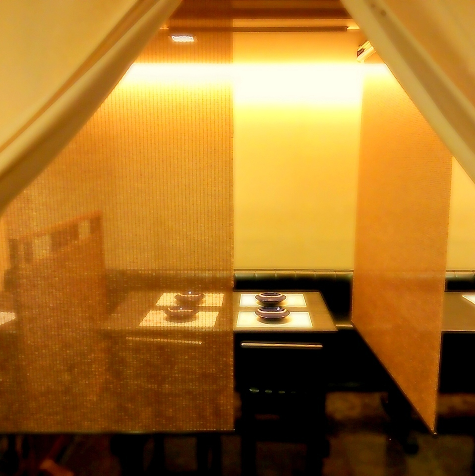 【Semi-private room for 2 to 20 people】 Private space by dividing.