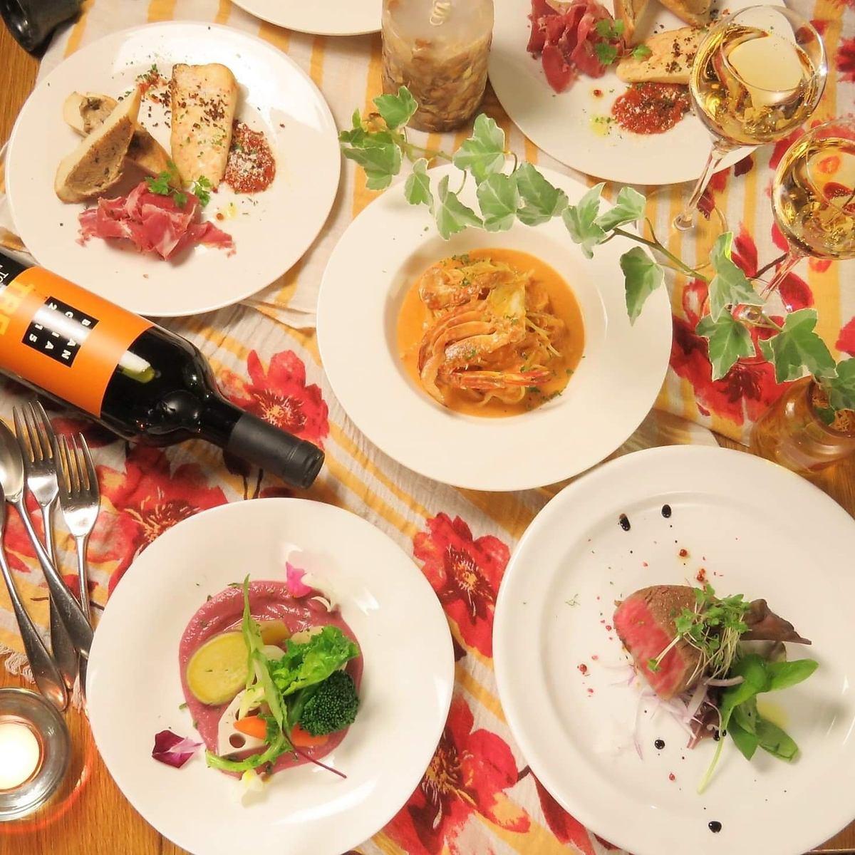 料理人歴20年、累計15万以上のパスタを提供するシェフによる料理の数々