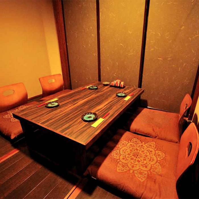 当店のスタンダードな個室です。様々なシチェーションでご利用が可能です。