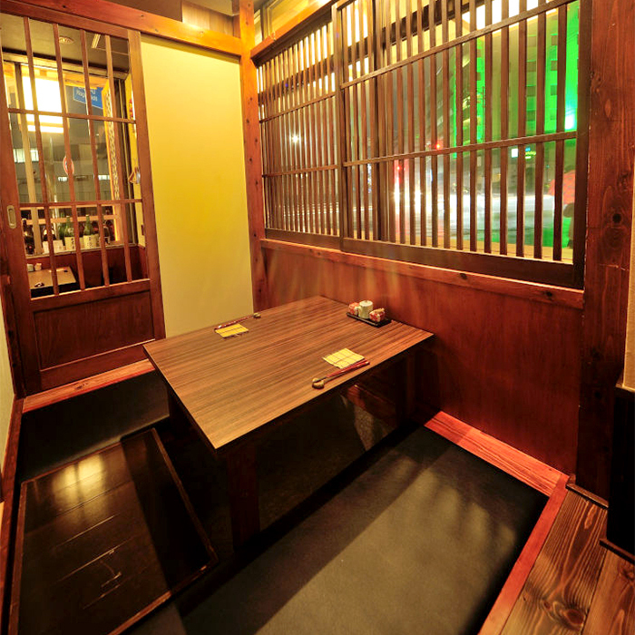 It is a private room that can be used by only two people in the shop.