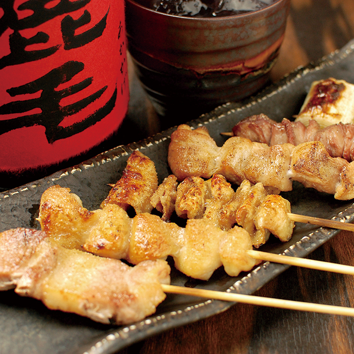 Assorted skewers (Sauce / Salt / 6 pieces)