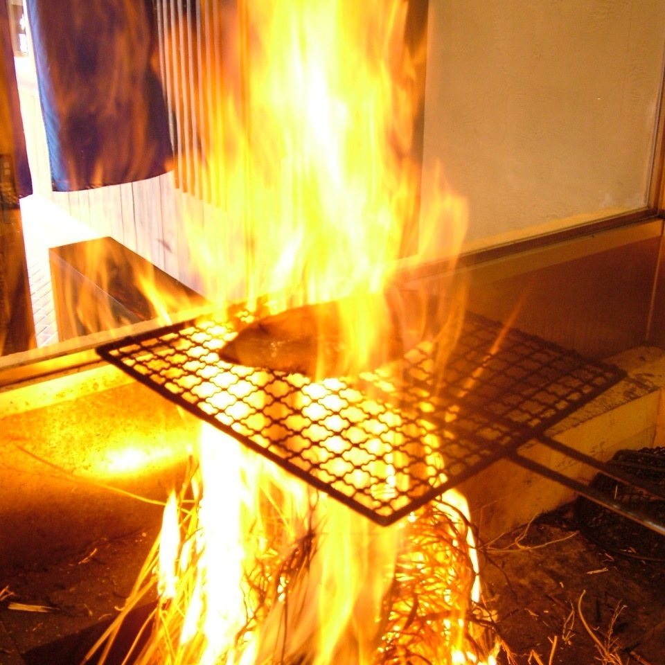 Yagamiro specialty! Boastful straw grill !!