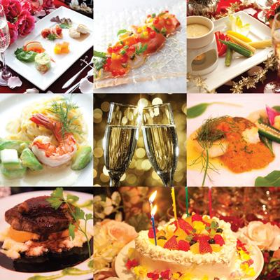 【Full course of luxury 12 items】 Birthday dinner course 5400 yen 【With heart type hall cake】
