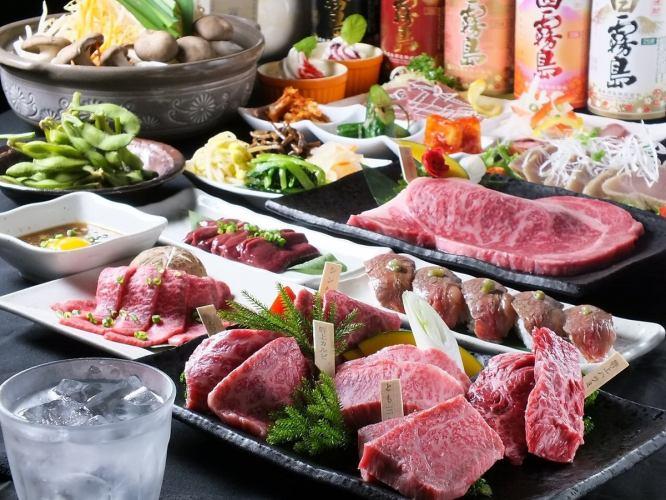 【特上盛合せからステーキまで】2時間飲み放題付贅沢7000円コース(14品)