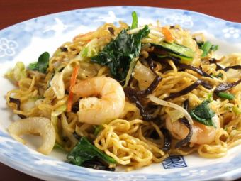 Shrimp-filled Shanghai noodles