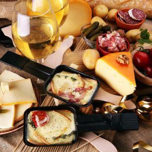ラクレットチーズの温野菜プレート