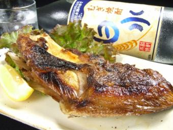 本鮪カマ岩塩焼き (大根おろし付)(税別)