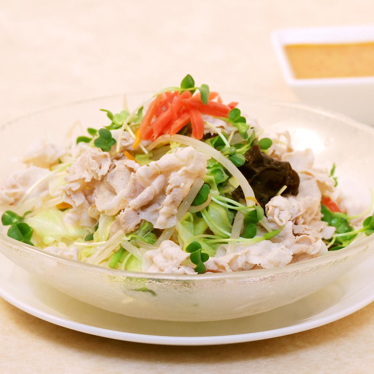 Pork shabu-shu cold noodles