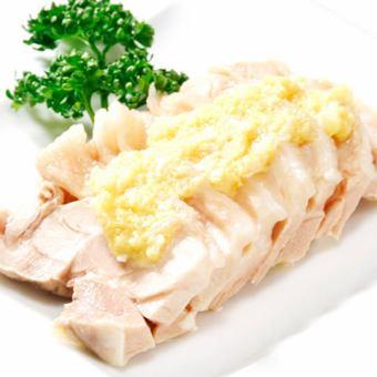 蒸し鶏の冷菜