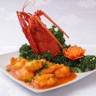Simmered chilli sauce of lobster with shrimp