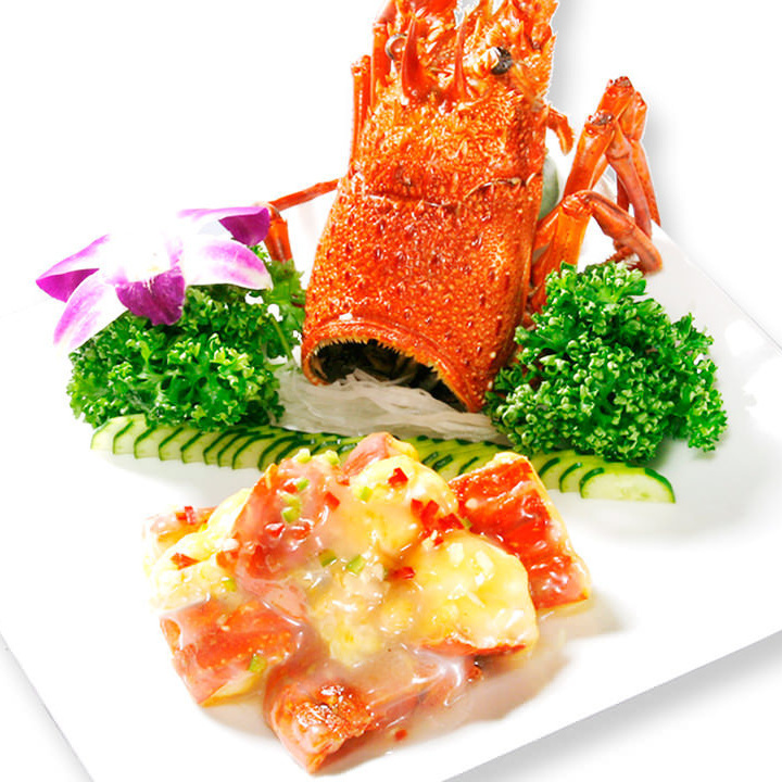 Stir-fried lobster with butter