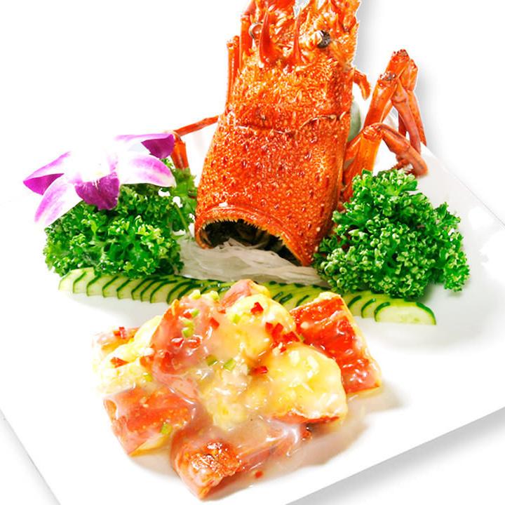 用黄油炒龙虾