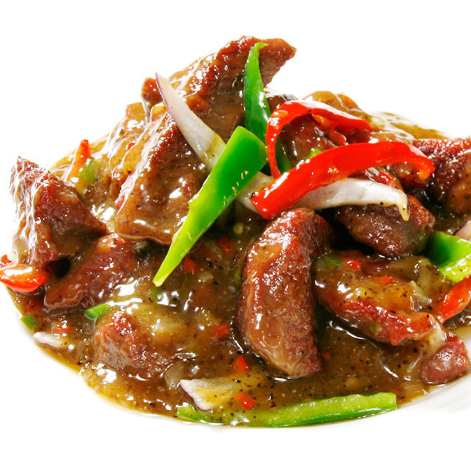 Stir-fried black pepper with beef and vegetables