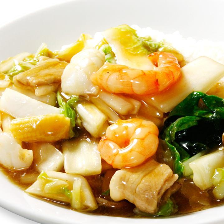 Seafood soup rice
