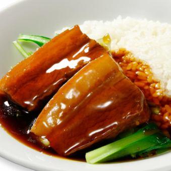 豚肉の角煮かけご飯