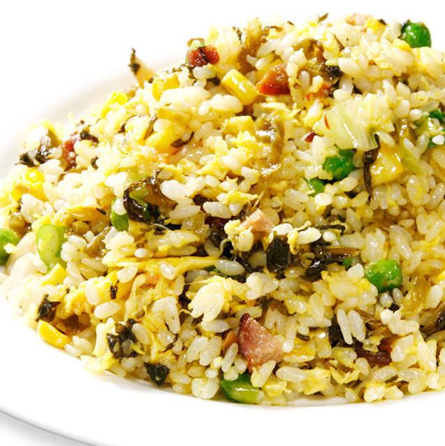 Mustard fried rice
