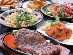 【All-you-can-drink for 2 hours】 (All 10 products 5000 yen course) (Kagoshima beef sirloin steak & charcoal grill of season fish)】
