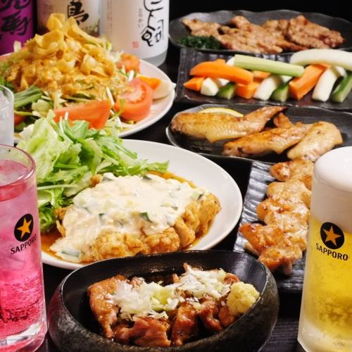 【Chicken Yakitori course】 10 items in total + 2 ~ 3 hours with all you can drink ★ 4000 ~ 5000 yen