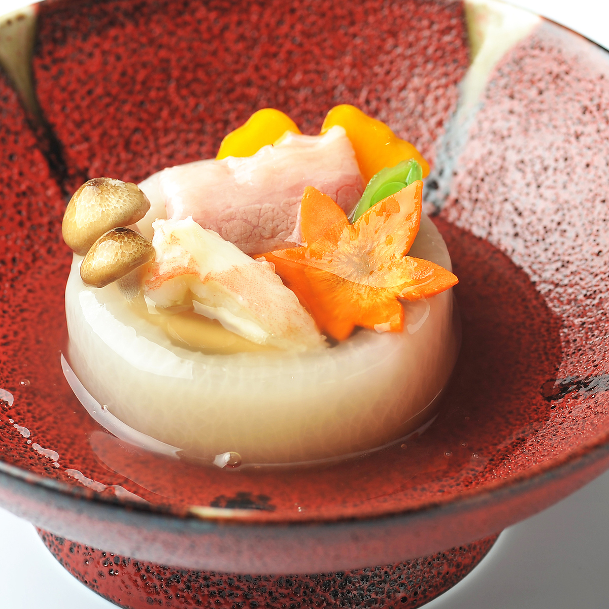 "Simmered dish ""Wagyu Beef's Incense Lily Lily Bean Paste"""
