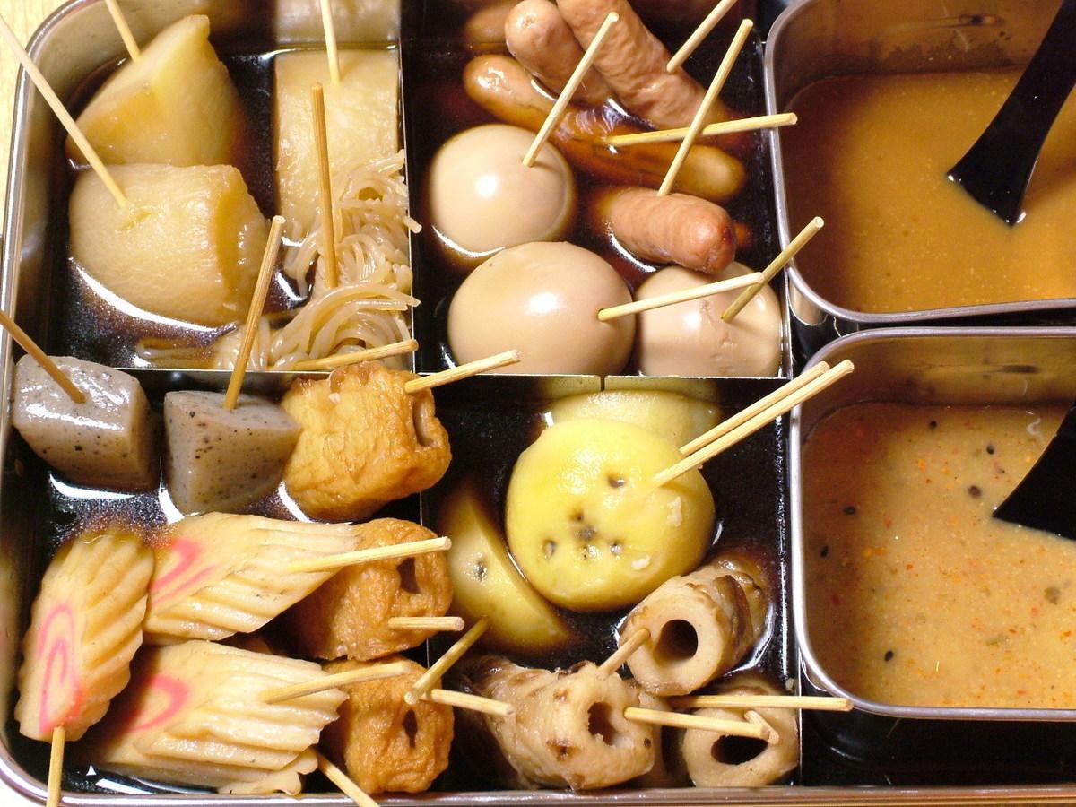 블랙 はんべ 무 달걀 · 감자 · 튀김 ·지면 · 곤약 · 두부 튀김