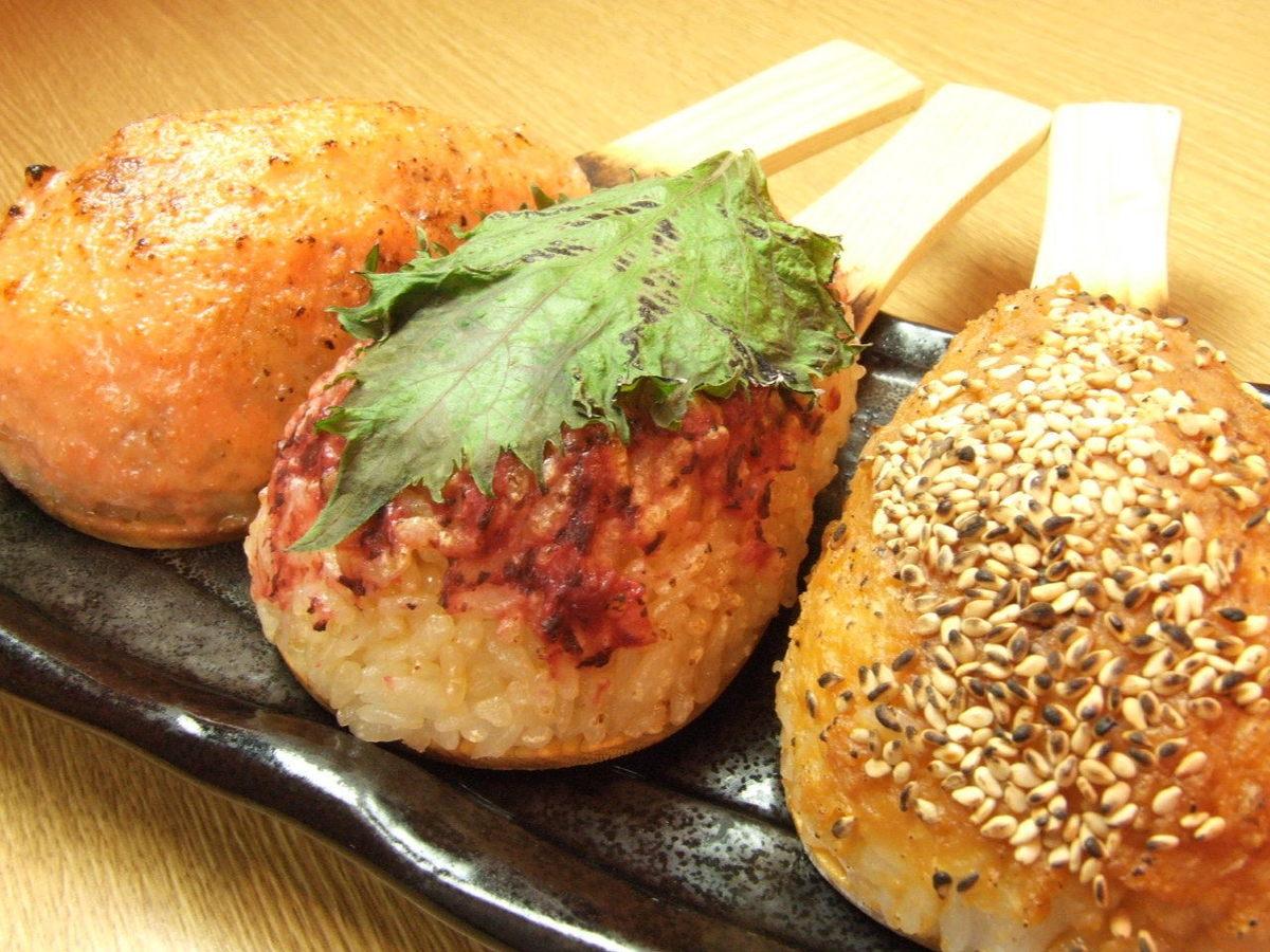 つくね(タレ玉・チーズ)/ごはん(みそ・梅しそ・明太マヨ)