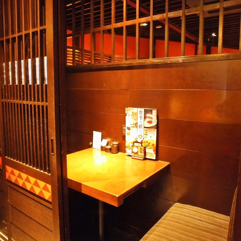 【Date on ♪】 The distance between the two will be shortened ....Delicious dinner and relaxing private room ♪ It can be enjoyed without worrying around ♪ It is a popular seat for couples ♪