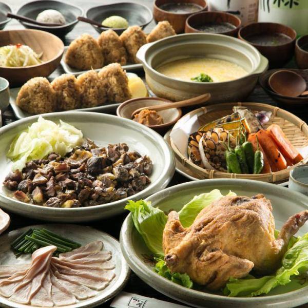 豪華!【6000日元套餐】用桃木炭燒烤和雞肉炒豪華9項2小時飲用標題包括在內