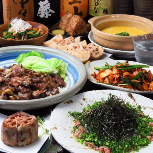锅或Mo烧!共有10道菜和5000日元套餐可供您选择!