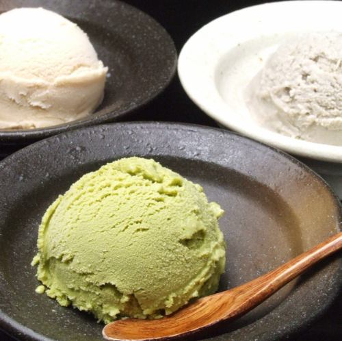 Kinako,黑芝麻,抹茶