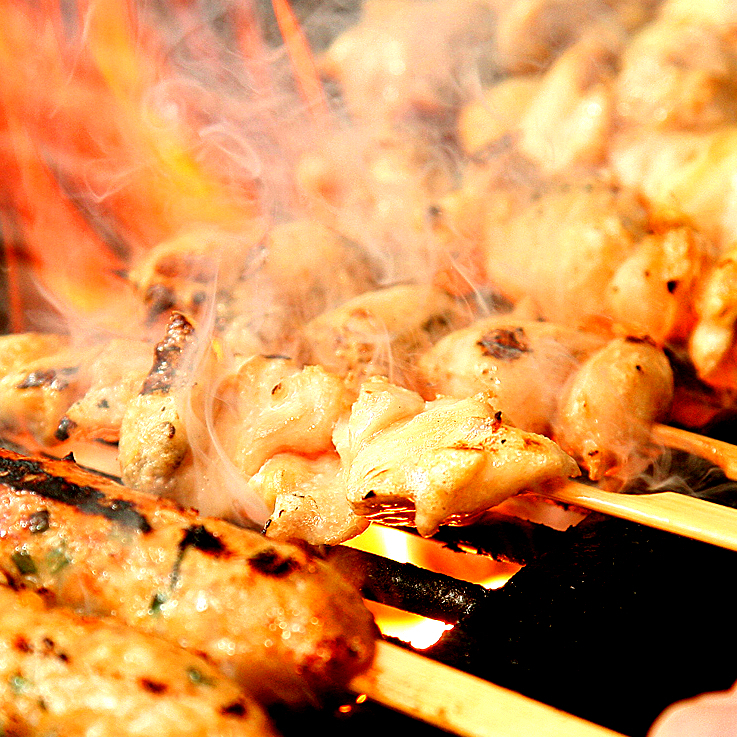 I am satisfied with the grilled yakitori ☆