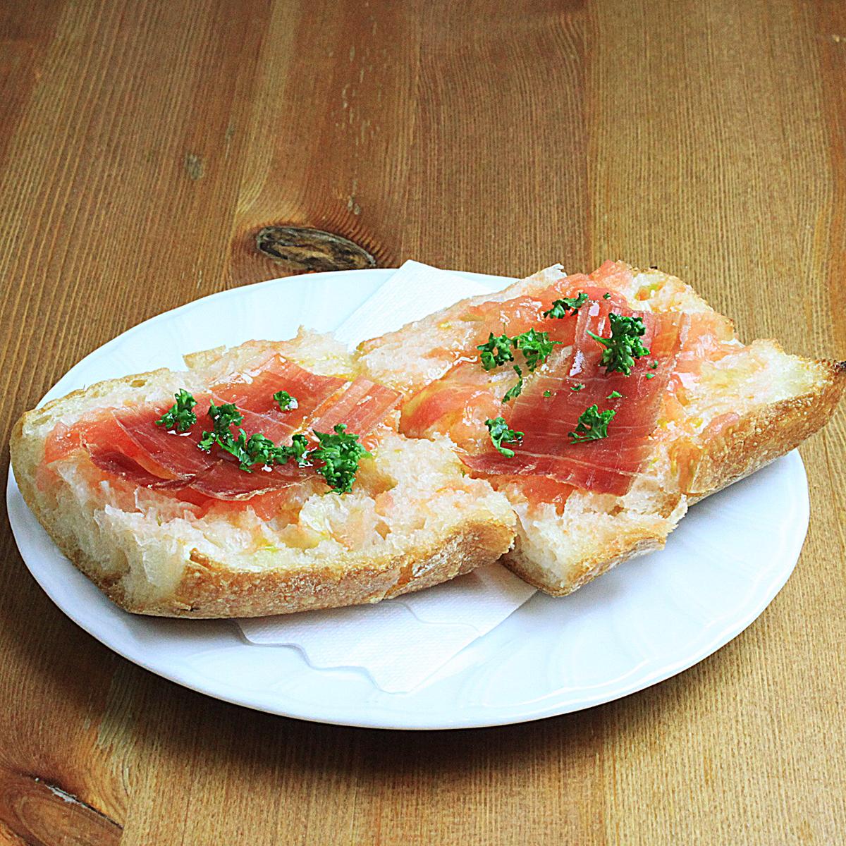 Pan-tomato tomato toast (2pc)