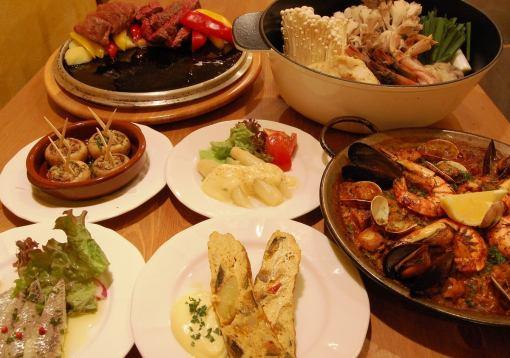 【当天OK·Petit宴会】6道菜美食3000日元(含税·4人〜当然)套餐★2H单独饮用自助餐(+ 1500日元)