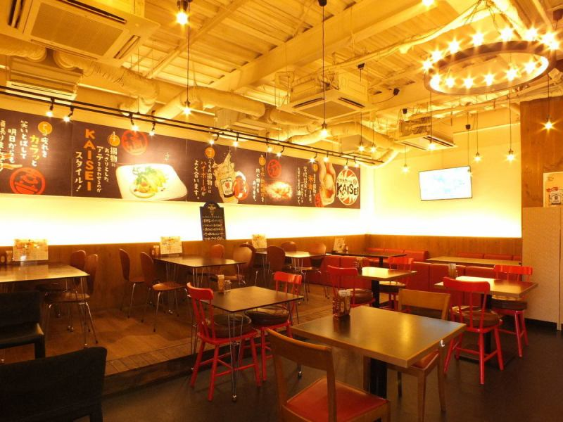 Inside the shop where you can use up to 70 people, it is perfect for large banquets ☆ Incidentally you can also watch sports, so Ideal for large banquets gathered at sports lovers